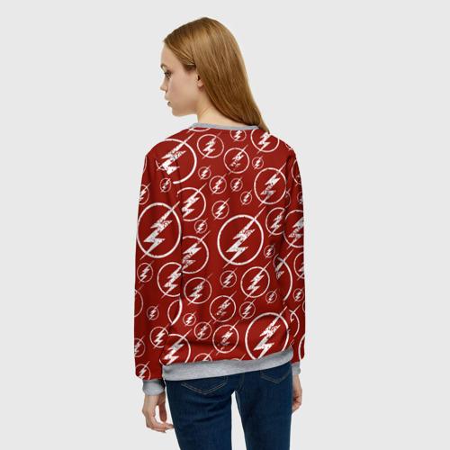 Женский свитшот 3D The Flash Logo Pattern Фото 01