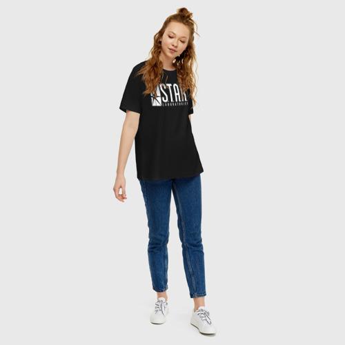 Женская футболка хлопок Oversize S.T.A.R. Labs Фото 01