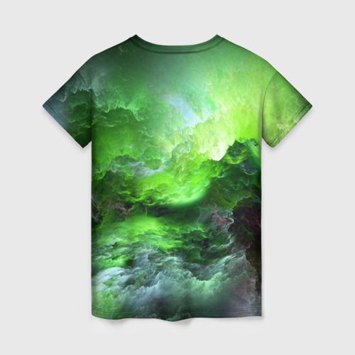 Женская футболка 3D GREEN SPACE | ЗЕЛЁНЫЙ КОСМОС Фото 01