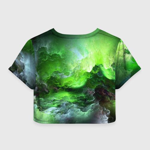 Женская футболка Crop-top 3D GREEN SPACE | ЗЕЛЁНЫЙ КОСМОС Фото 01