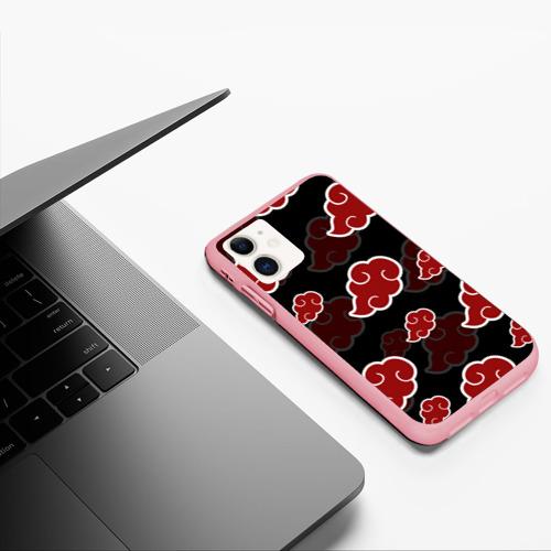 Чехол для iPhone 11 матовый AKATSUKI   NARUTO   НАРУТО   АКАЦУКИ Фото 01