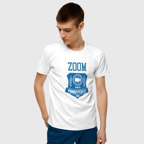 Мужская футболка хлопок ZOOM обучение 2020 Фото 01