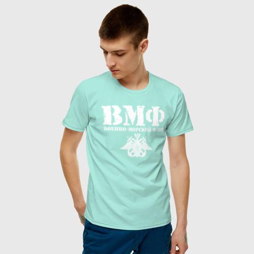 Мужская футболка хлопок ВМФ Фото 01