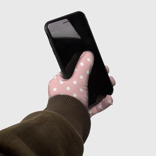 Перчатки 3D мелкий горох  Фото 01