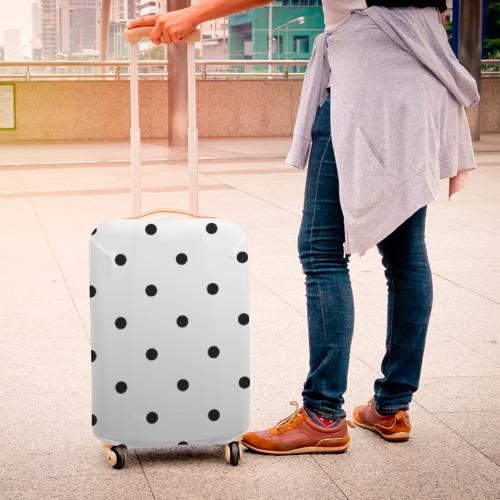 Чехол для чемодана 3D горошек  Фото 01