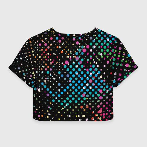 Женская футболка Crop-top 3D Точечный Фото 01