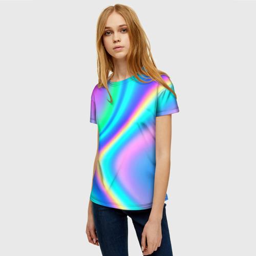 Женская футболка 3D ГРАДИЕНТ Фото 01