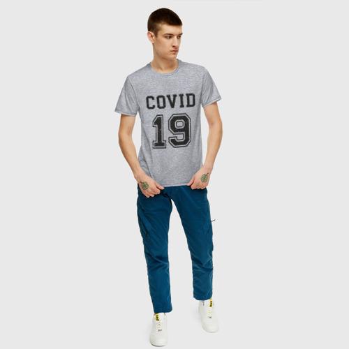 Мужская футболка хлопок Covid 19 Фото 01