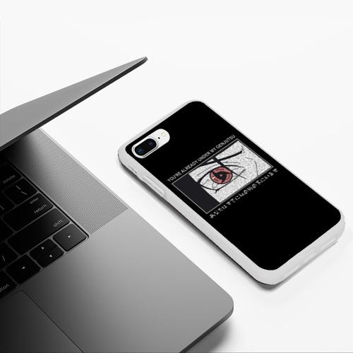 Чехол для iPhone 7Plus/8 Plus матовый Итачи, Ты под моим гендзюцу Фото 01