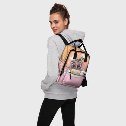Женский рюкзак 3D Милая сова на облачках Фото 01