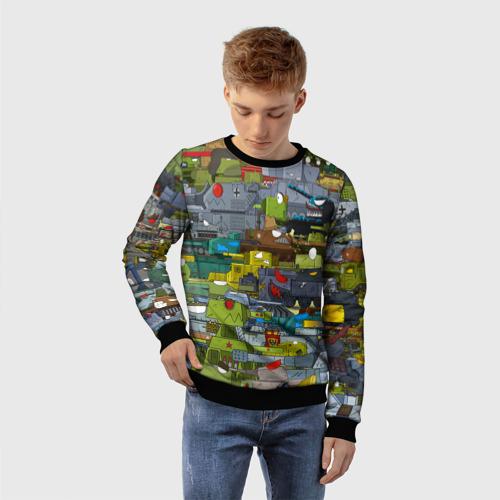 Детский свитшот 3D Геранд шоп-Мир танков  Фото 01