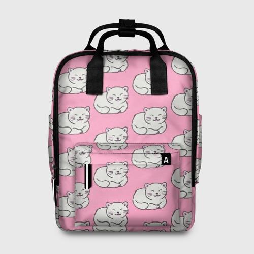 Женский рюкзак 3D Белая кошка Фото 01