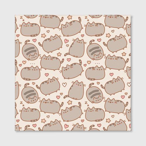 Холст квадратный Милый толстый кот Фото 01