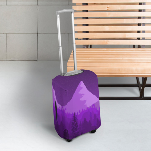 Чехол для чемодана 3D Ночные горы Фото 01