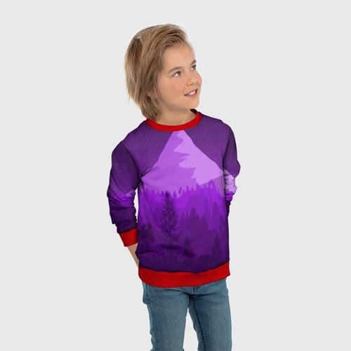 Детский свитшот 3D Ночные горы Фото 01