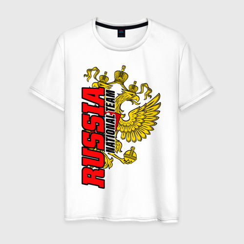 Мужская футболка хлопок RUSSIA national team Фото 01