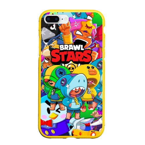 Чехол для iPhone 7Plus/8 Plus матовый BRAWL STARS LEON  Фото 01