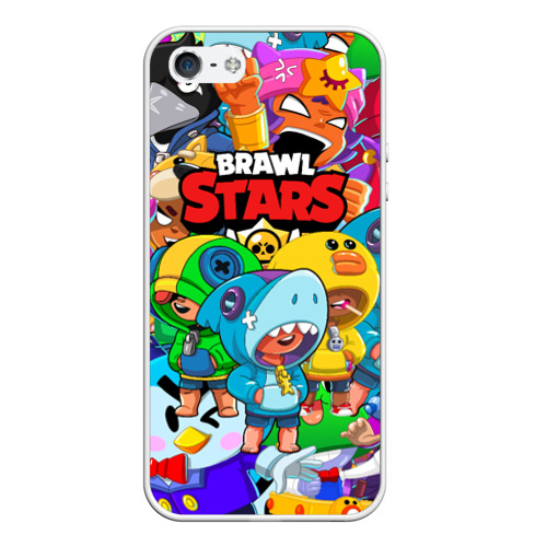 Чехол для iPhone 5/5S матовый BRAWL STARS LEON  Фото 01