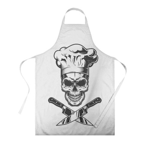 Фартук 3D Череп повар  Фото 01