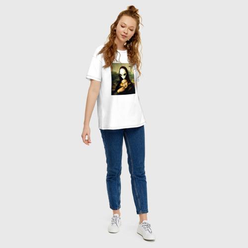 Женская футболка хлопок Oversize Mona Lisa Фото 01