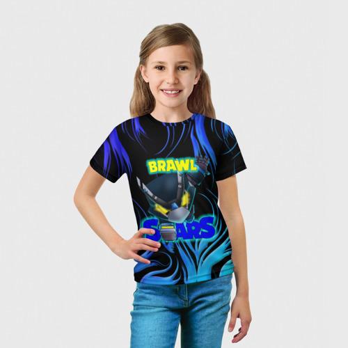 Детская футболка 3D МЕХА ВОРОН БРАВЛ СТАРС Фото 01