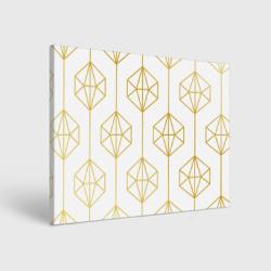 Геометрический орнамент золото
