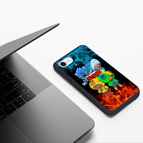 Чехол для iPhone 7/8 матовый Brawl Stars Leon Quattro Фото 01