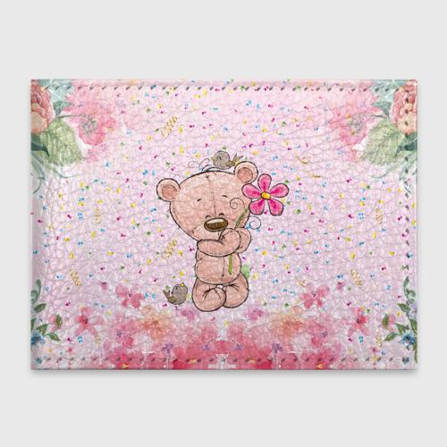 Милый мишка с цветочком