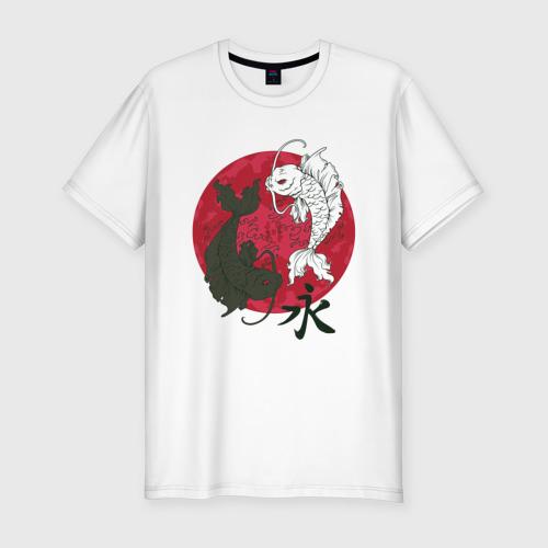 Мужская футболка хлопок Slim Инь-янь Фото 01