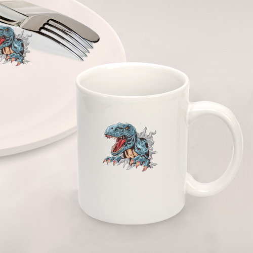Набор: тарелка + кружка Годзилла Фото 01