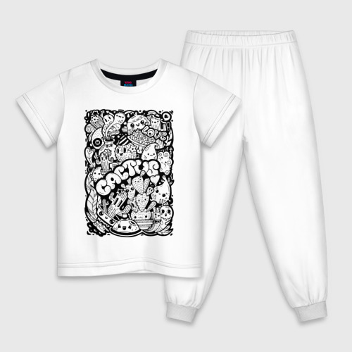 Детская пижама хлопок Black and White Фото 01