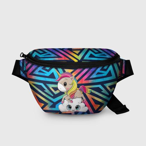 Поясная сумка 3D Единорог - радуга Фото 01
