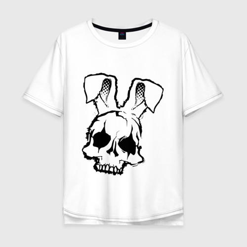 Мужская футболка хлопок Oversize Череп Зайца Фото 01