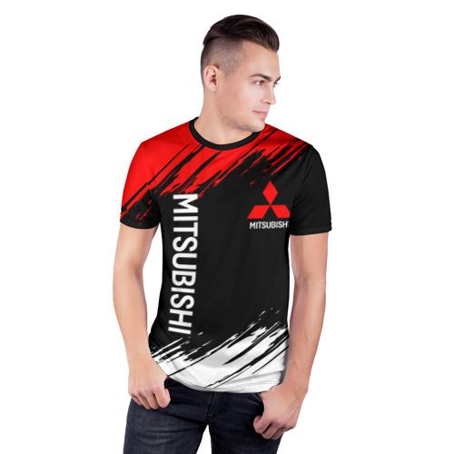 Мужская футболка 3D спортивная MITSUBISHI SPORT Фото 01