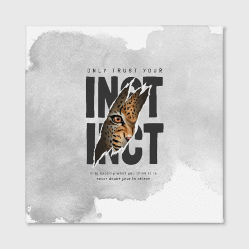 Холст квадратный INSTINCT Инстинкт хищника тигр Фото 01