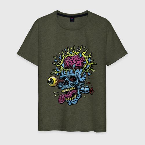 Мужская футболка хлопок The explosion of the brain Фото 01