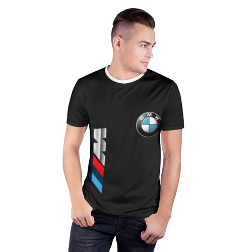 Мужская футболка 3D спортивная bmw Фото 01
