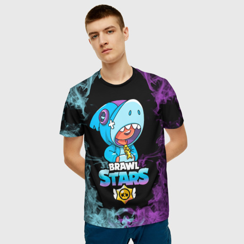 Мужская футболка 3D Brawl Stars Leon Shark Фото 01