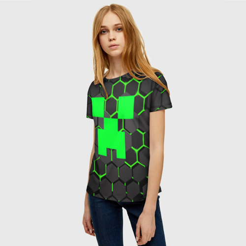 Женская футболка 3D  MINECRAFT CREEPER Фото 01