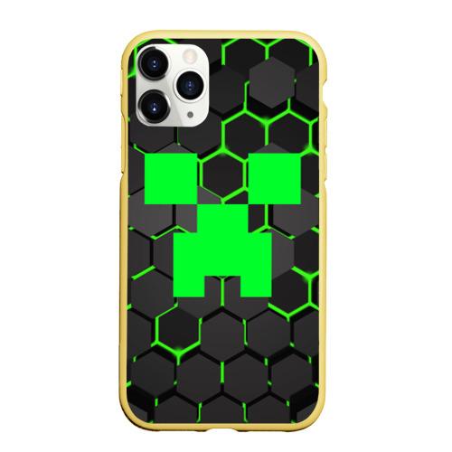 Чехол для iPhone 11 Pro матовый  MINECRAFT CREEPER Фото 01