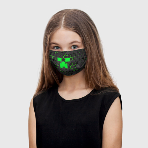 Детская маска (+5 фильтров)  MINECRAFT CREEPER Фото 01