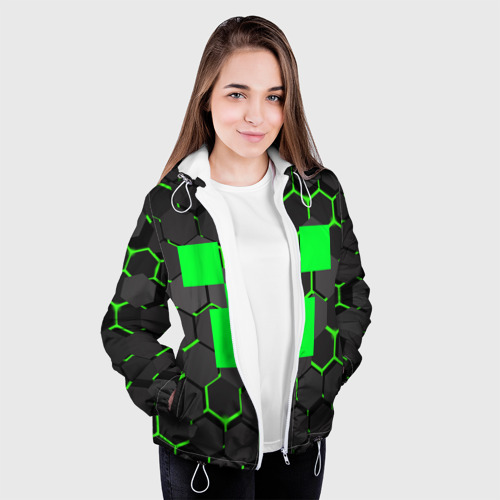 Женская куртка 3D  MINECRAFT CREEPER Фото 01