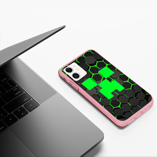 Чехол для iPhone 11 матовый  MINECRAFT CREEPER Фото 01