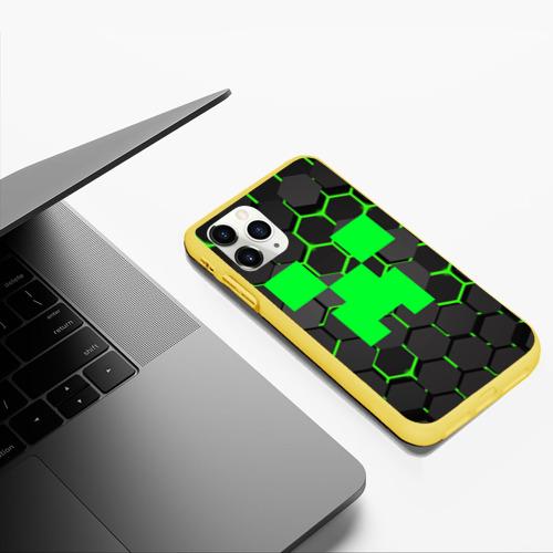 Чехол для iPhone 11 Pro Max матовый  MINECRAFT CREEPER Фото 01