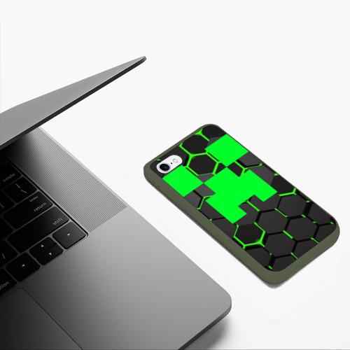 Чехол для iPhone 6/6S матовый  MINECRAFT CREEPER Фото 01