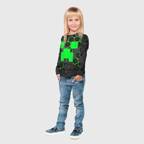 Детский лонгслив 3D  MINECRAFT CREEPER Фото 01