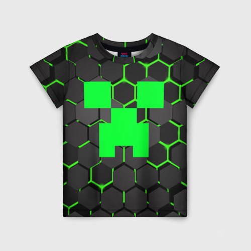 Детская футболка 3D  MINECRAFT CREEPER Фото 01