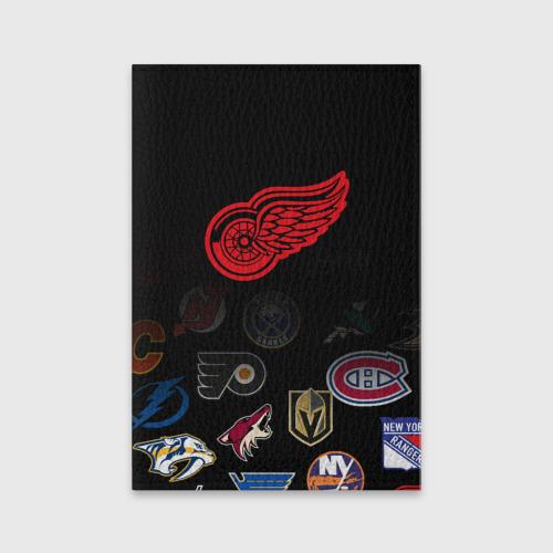 Обложка для паспорта матовая кожа NHL Detroit Red Wings (Z) Фото 01