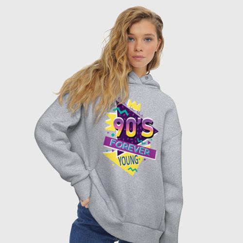 Женское худи Oversize хлопок Рожденный в 90х Фото 01