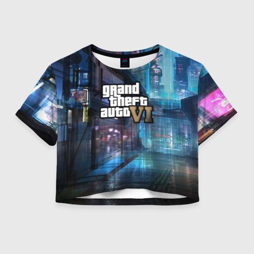 Женская футболка Crop-top 3D GTA6 Фото 01